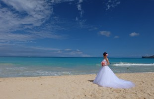 ハワイ挙式の花嫁様