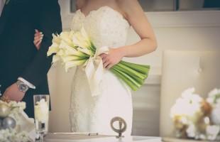 冬挙式の花嫁様